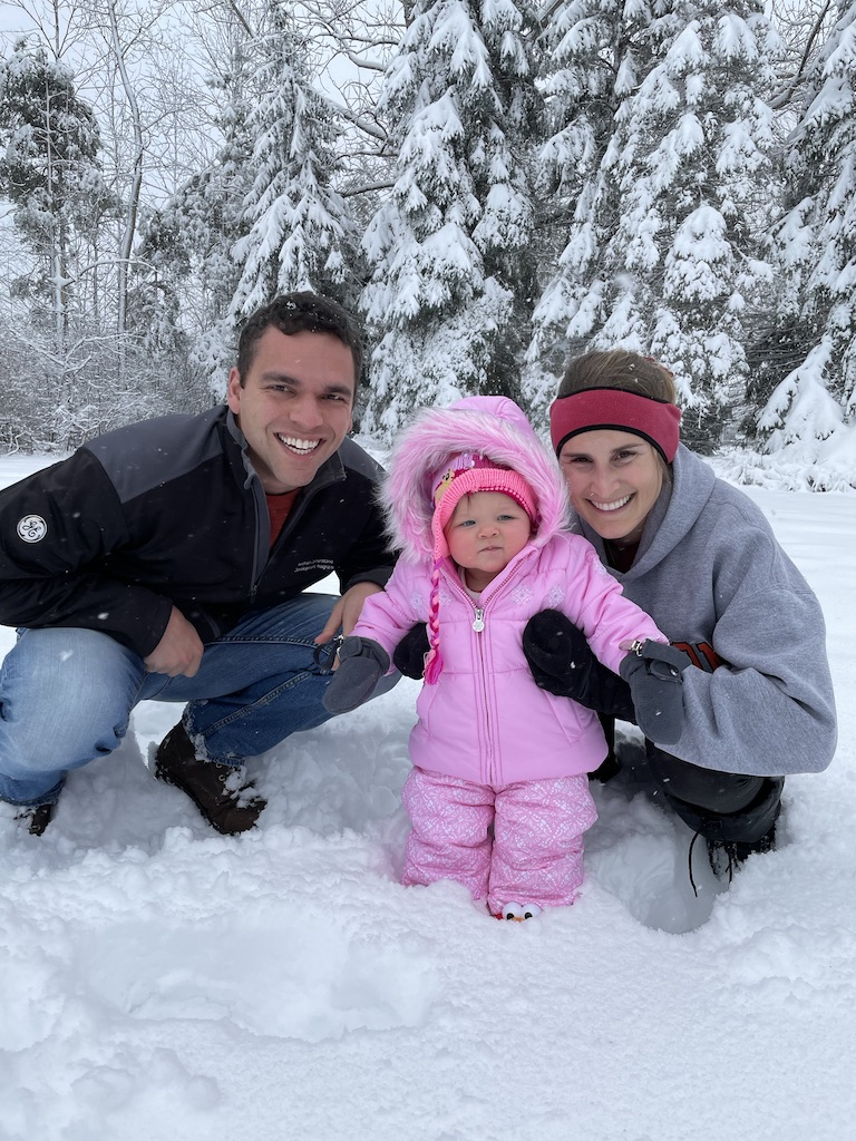 Mahon Family in the snow.